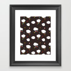 Rainclouds Black Framed Art Print