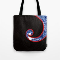 nightmare Tote Bags featuring Nightmare by xzwillingex