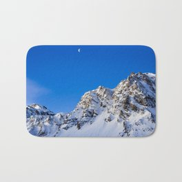Beautiful Mountain with snow view Bath Mat