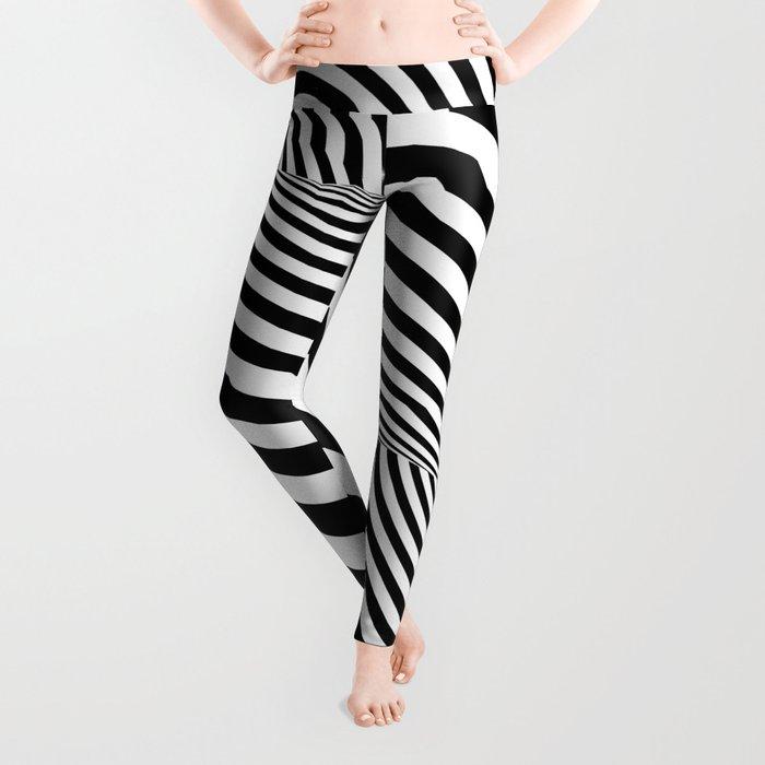 Dizzy lines - Optical game 16 Leggings