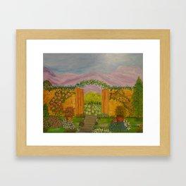 Beyond The Gate Acrylic Painting by Rosie Foshee Framed Art Print