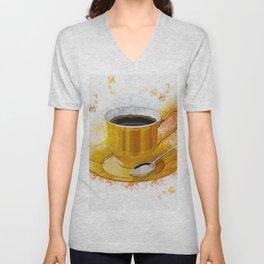 Coffee Art Unisex V-Neck