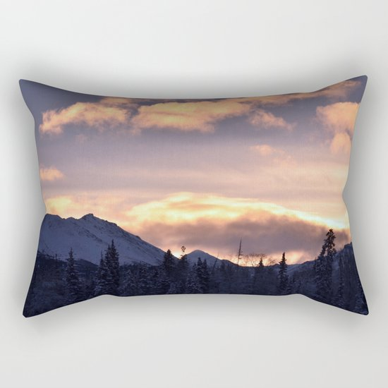 Flat Top Sunrise Serenity Rose Rectangular Pillow
