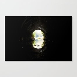 Green at the End of the Tunnel Canvas Print