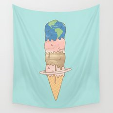 melting planets Wall Tapestry
