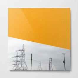 Orange Pylons Metal Print