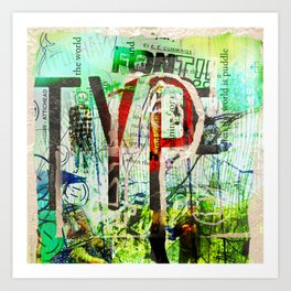 Typography for Two... Art Print