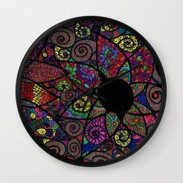"""Flower Invasion"" Wall Clock"