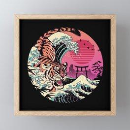 Rad Tiger Wave Framed Mini Art Print