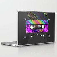 tape Laptop & iPad Skins featuring CASSETTE TAPE by Lazy Bones Studios