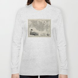 Vintage Map of Boston MA (1838) Long Sleeve T-shirt