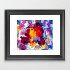 Rain Drops of color Framed Art Print