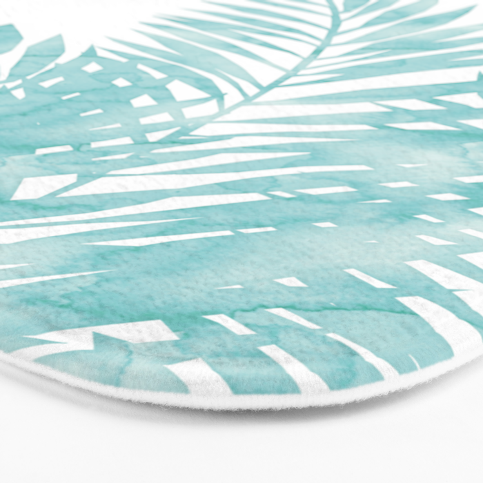 Palm Leaves Island Paradise Bath Mat