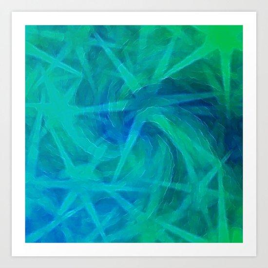 Starry Night Abstract Art Print