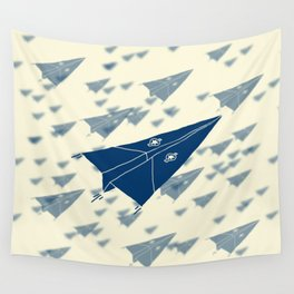 Paper Airplane 11 Wall Tapestry