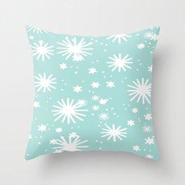 Pale Blue Snowflake Art Throw Pillow
