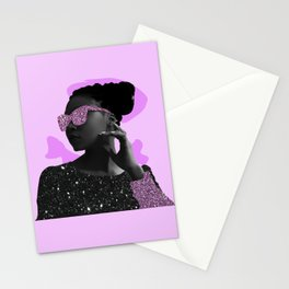 Rock Star Glitter Collage Stationery Cards