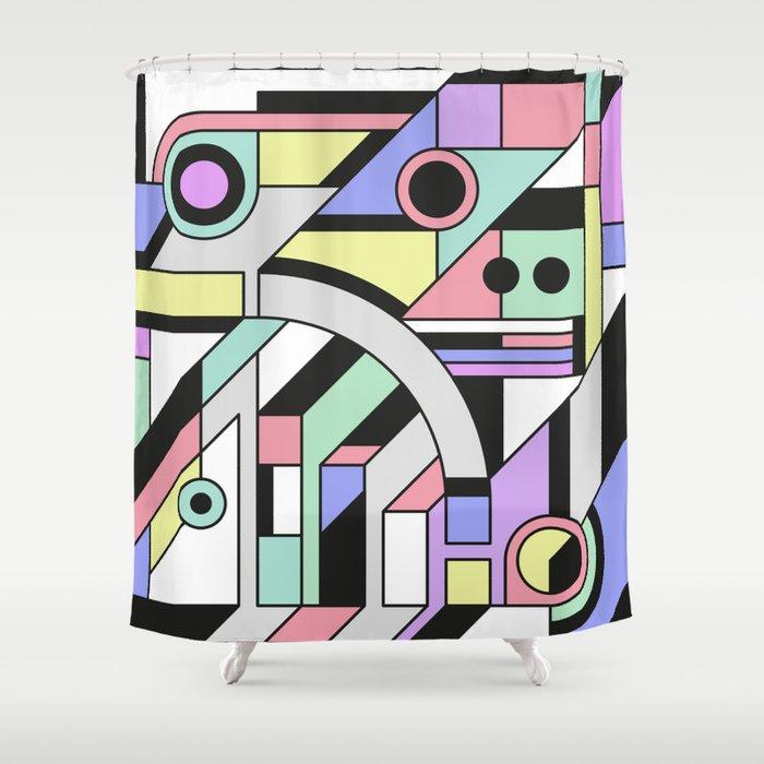 De Stijl Abstract Geometric Artwork Shower Curtain