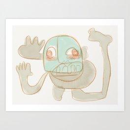 Hello-I'm-fine! Art Print