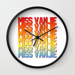 Miss Vanjie! Wall Clock