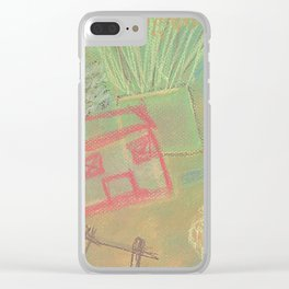 Abstract Farmyard Clear iPhone Case