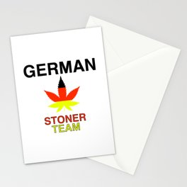 German Stoner Team | Weed Cannabis Gift Idea Stationery Cards
