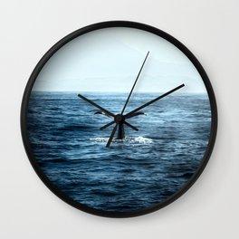 Ocean Teal Whale Wall Clock