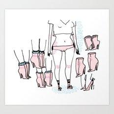 Les Chaussures. Art Print