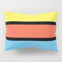 Diversions #1 in Yellow, Orange & Powder Blue Pillow Sham