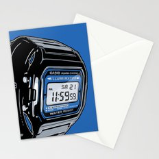 Casio F-105 Digital Watch Stationery Cards