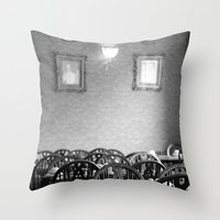 cafe Throw Pillows featuring Cafe by J. Ann Photography