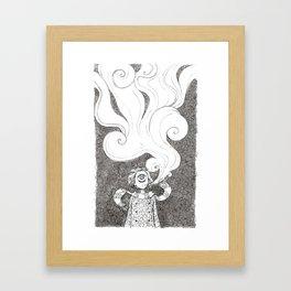 Winter Smoke Framed Art Print