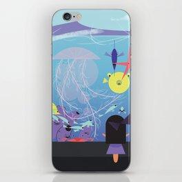 Honolulu Aquarium Poster iPhone Skin