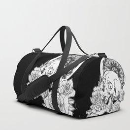 Skull and Flower Duffle Bag