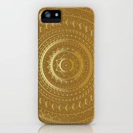 Gold Mandala. Indian decorative pattern. iPhone Case