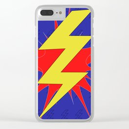Lightning Bolt Clear iPhone Case