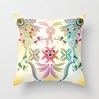 bohemian Throw Pillows featuring Bohemian  by famenxt