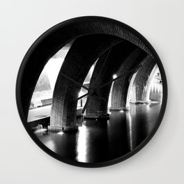 Stone Arches Wall Clock