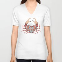 cancer V-neck T-shirts featuring Cancer by Vibeke Koehler