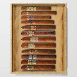 Cigar Sampler Painting Cigars Serving Tray