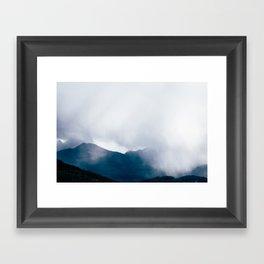 wandering the mist Framed Art Print