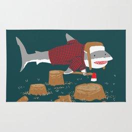 LumberJack Shark Rug