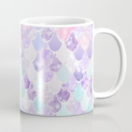 Cute Mermaid Pattern, Light Pink, Purple, Teal Coffee Mug