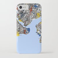 istanbul iPhone & iPod Cases featuring Istanbul by Mondrian Maps