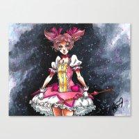 madoka magica Canvas Prints featuring Madoka Magica by Refrigerator-Art