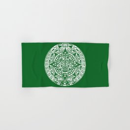 Mayan Calendar // Forest Green Hand & Bath Towel