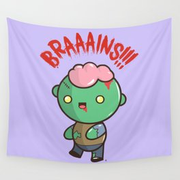 Zombie Kawaii | BRAAAINS!!!! BRAINS!! Halloween Wall Tapestry