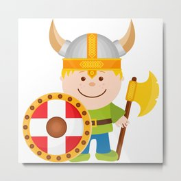 Little Viking Metal Print