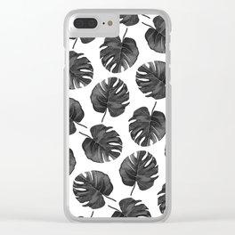 Palm Cuts (Black & White) Clear iPhone Case