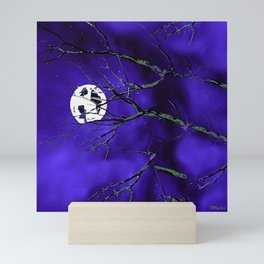 Tree Branches and a Silver Moon Mini Art Print